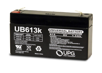 Upg Ub613 Battery Sealed Lead Acid 6 Volt 1 3ah